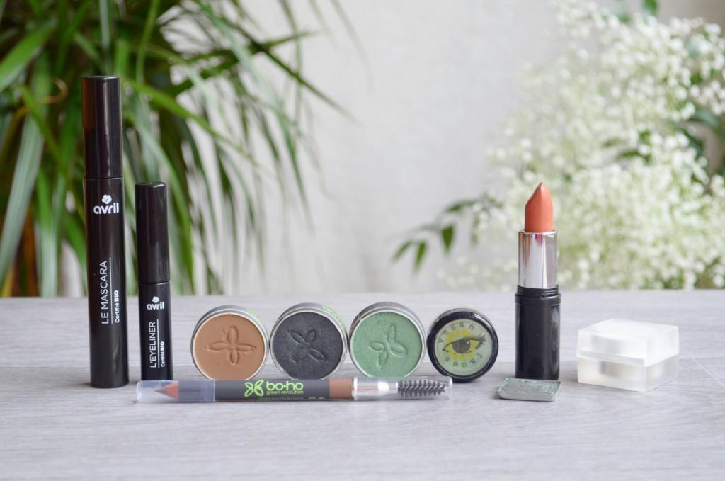 maquillage bio vert émeraude