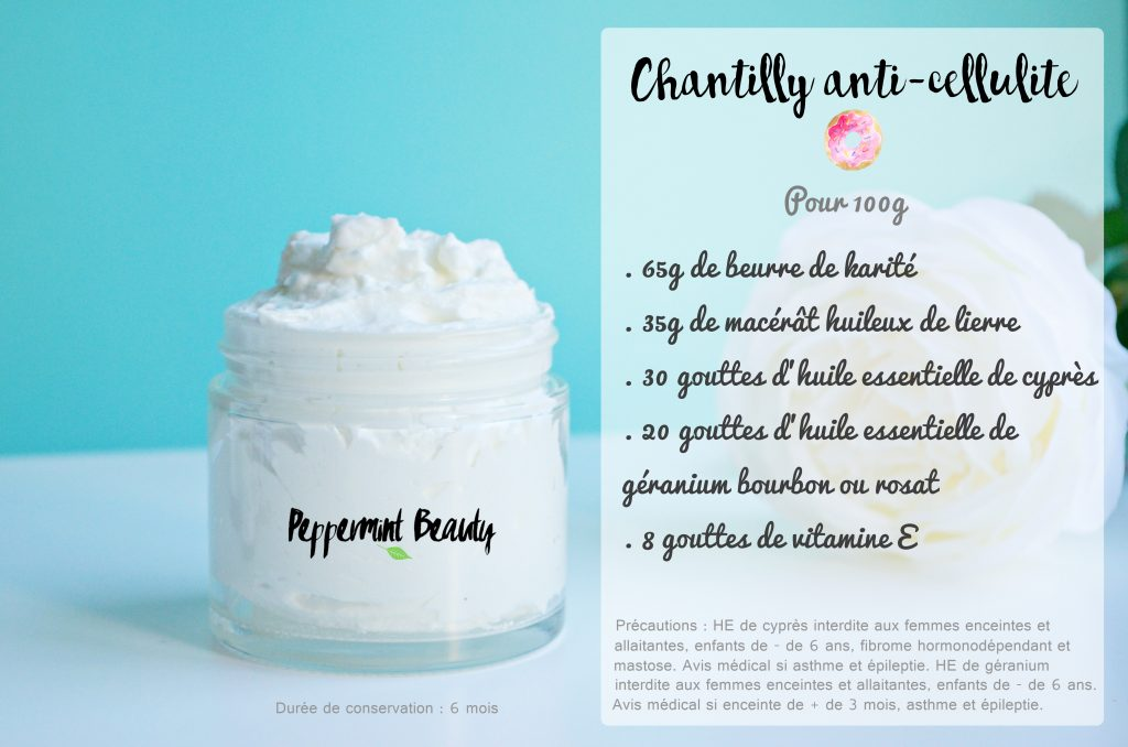 Chantilly raffermissante et anti cellulite faite maison for Appareil anti cellulite maison