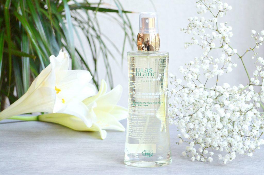 Huile sèche merveilleuse au lilas blanc des Laboratoires Lilas Blanc