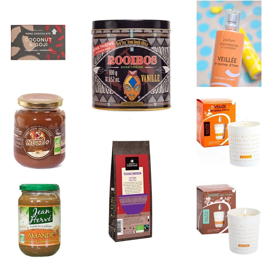 Mes essentiels en gourmandise, thé et bougies bio et naturel