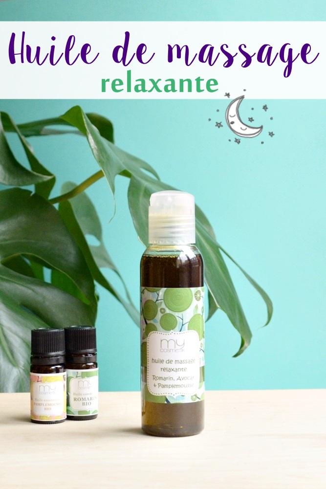 Recette d'huile de massage relaxante à l'huile essentielle de romarin