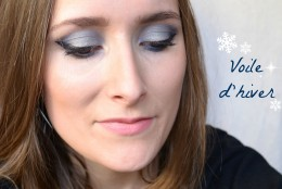 Maquillage voile d'hiver bleu glacé
