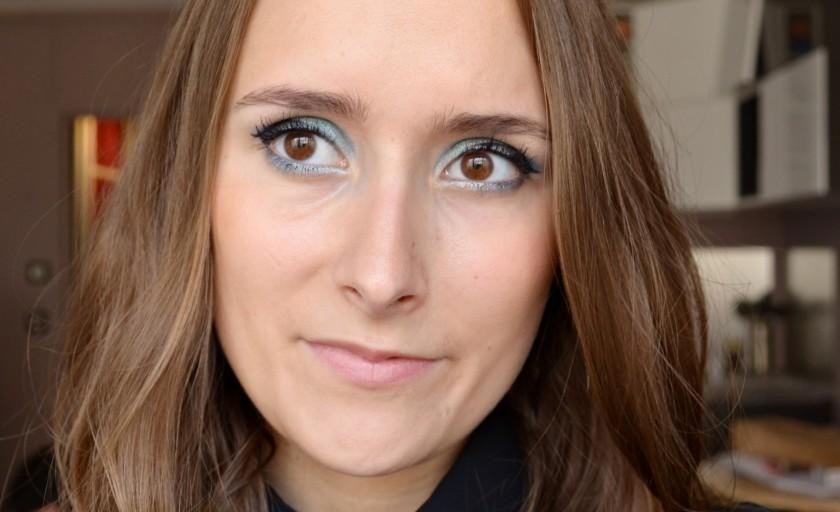 Maquillage bleu océan pour le Monday Shadow Challenge