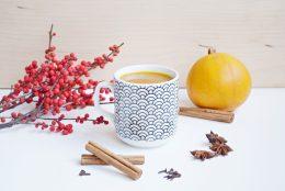 Pumpkin spice latte réconfortant pour l'automne