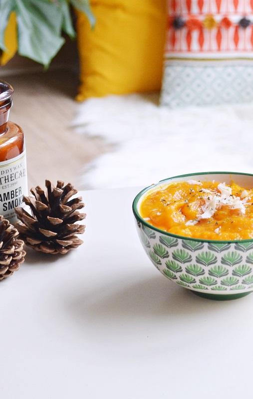 Velouté de patates douce, butternut et potimarron