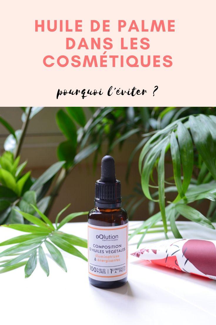 Cosmétiques sans huile de palme avec oOlution