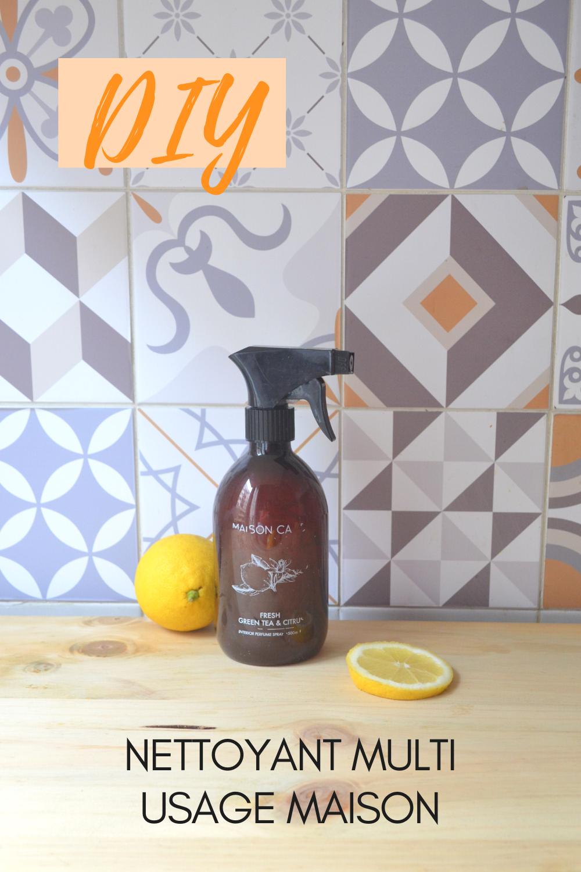 Spray nettoyant multi usage maison